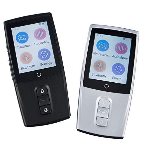 BKOLPO Instant Voice Translator Tragbare intelligente Übersetzer Echtzeit-Sprachübersetzungsmaschine Übersetzen Sie 40 Sprachen Verbinden Sie WiFi,Silber