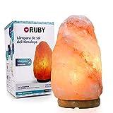 RUBY - Lampara de Sal del Himalaya 2-3 kg, 100% Natural, Salt Lamp Hecha a Mano Original (2-3 kg)