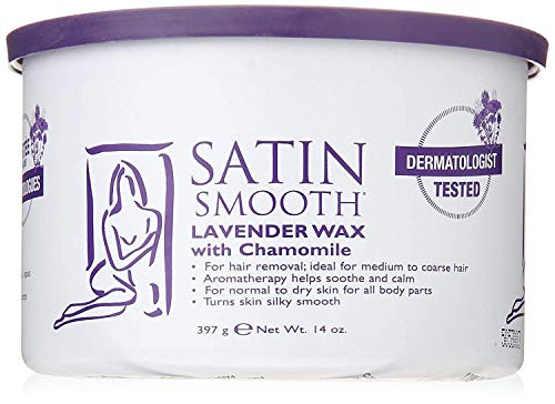 SATIN SMOOTH Lavender Wax with Chamomile, 14 oz