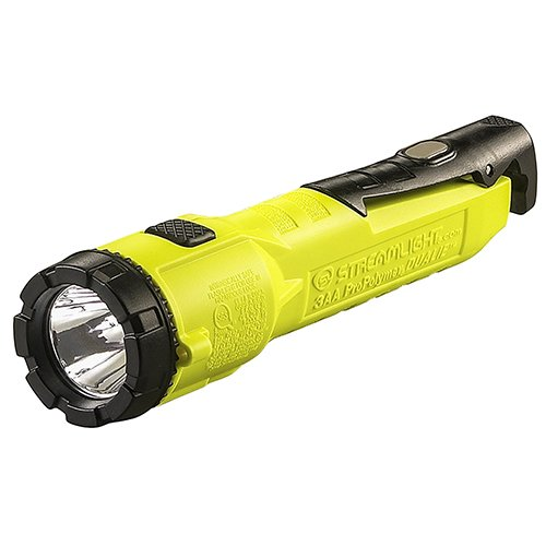Streamlight 68780 Dualie 3AA 245-Lumen Intrinsically Safe Dual Beam LED Flashlight With Magnetic Clip, Yellow – Box Packaged