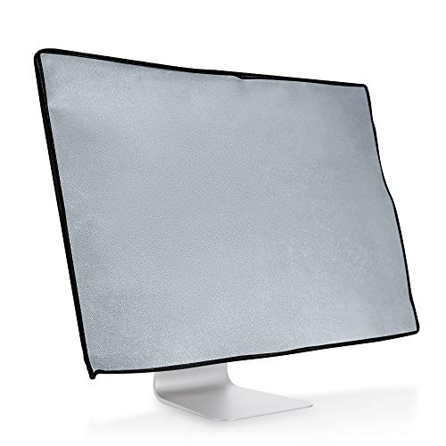 kwmobile Monitor Cover Compatible with 27-28' monitor - Anti-Dust PC Monitor Screen Display Protector - Light Grey