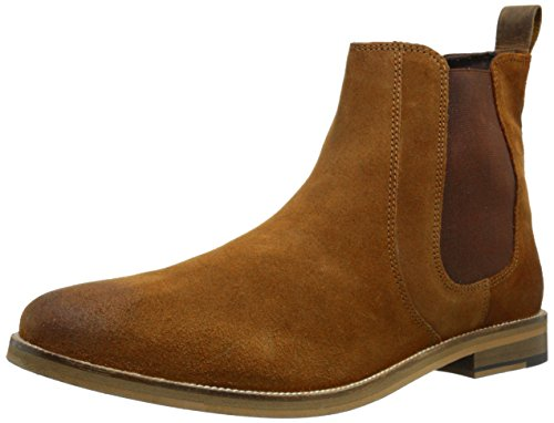 Crevo Men's Denham Chelsea Boot, Chestnut Suede, 12 M US