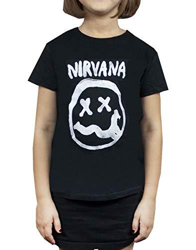 Nirvana Smiley Logo Girl's T-Shirt (11-12 years)