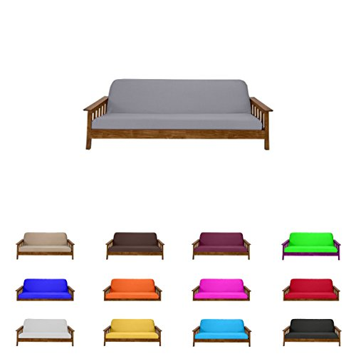 Futon Mattress Cover Solid Color Choose Color and Size Twin Full Queen (Full (6