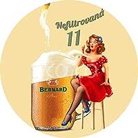 バーナードビールの広告 ぶら下がっている木製のプラークハウスウェルカムサイン個々の円形レトロアートペインティングとひもプラークレコードペインティング