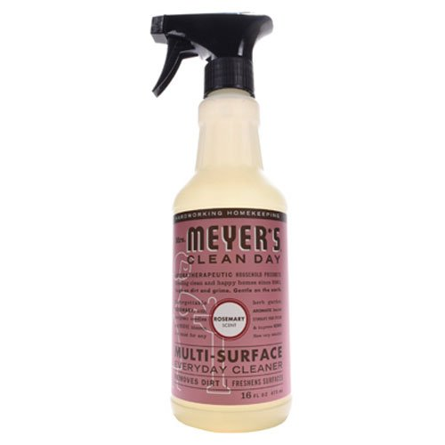 Mrs. Meyer's Clean Day Multi-Surface Everyday Cleaner, Cruelty Free Formula, Rosemary Scent, 16 oz