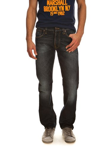 Jeans Average Joe organic contrast indigo NUDIE W30 L34 Herren
