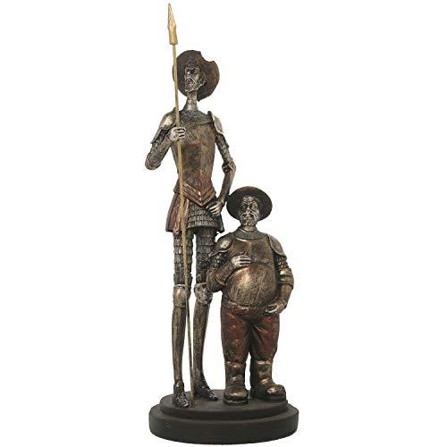 DRW Figura de Don quijote y Sancho Panza de pie y 14x14x37cm