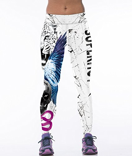 Damen Leggings, Morbuy Sport Gym Yoga Workout Pants Basic Fitness Hohe Taille Jogginghose Trainingshose Skinny Hosen Hose Sporthose (Tigerkopf)