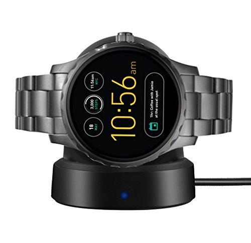 SkyBand Estación inalámbrica para Reloj Inteligente Fossil Q Marshal (Negro)