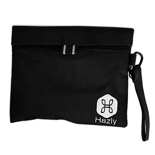Hazly Smell Proof Bag I 20x16cm diskrete, unauffällige geruchsdichte Tasche - Neutralisiert Starke Gerüche I Innentaschen für Reisen - Vaporizer Beutel