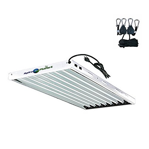 HYDRO PLANET T5 Grow Lights 4-Ft 8-Lamp Fluorescent HO Bulbs Included for Indoor Horticulture...