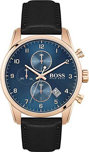 Hugo Boss Quarz Uhr mit Leder Armband 1513783