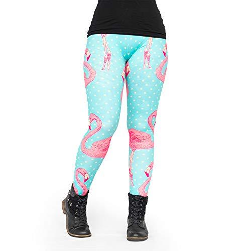 Leggings Fullprint Flamingo Punkte Einheitsgröße (34/XS bis 44/L)