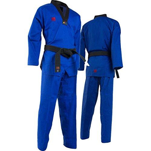Mooto Uniforme dobok Korea para Hombre 180 (170cm ~ 180cm) (5.57ft ~ 5.90ft) Azul