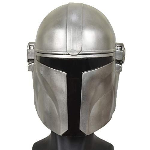 Máscara de látex del casco completo de Star Wars Mandalorian, casco mandaloriano Kailoren Casco Rise of Skywalker, accesorio de cosplay para fiesta de halloween