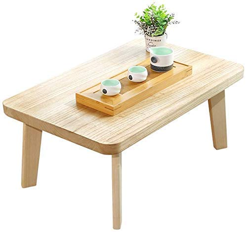 Daily Equipment End Tables Coffee Table Paulownia Wood Side Table Simple Low Table Lazy Computer Table Tatami Platform Solid Wood Table Multi size Solid Wood Table (Color : Beige Size : 50 * 35 * 3