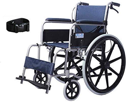 Sicherheit Rollstuhl aus Aluminiumlegierung, der einen leichten, tragbaren, ultraleichten Wagen für ältere Roller zusammenklappt