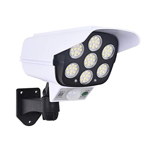 KKmoon Cámaras Falsas Luces Solares LED 77 LED IP65 a Prueba de Agua para Patio Porche Garaje