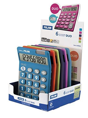 Milan Display 6 calculators 10 Digit Duo (Purple)