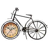 Lesueur ArtesaníAs Antiguas Retro Estilo Vintage Bicicleta Escritorio y Estante Reloj DecoracióN Moderna de la Oficina la Casa Adorno de ExhibicióN de la Mesa
