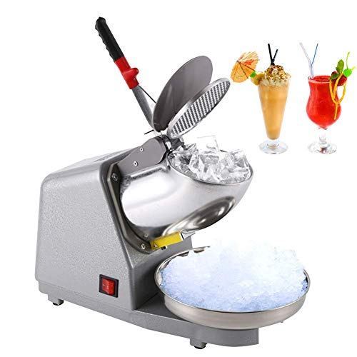 IDABAY Schneekegel-Maker 380 W, Elektrischer Edelstahl-Schneekegel, 50 Hz mit Doppelklingen, 220 V Eis-Mixer, Zerkleinerer, Werkzeug für den gewerblichen Gebrauch zu Hause