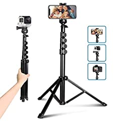 An Ideal Setup for Vlogging and Live Streaming–The tripod set consists of a multi-purpose selfie stick tripod, a handy Bluetooth remote control for smartphones, and mounts for GoPro devices, basically everything you will need to create a nice selfie ...