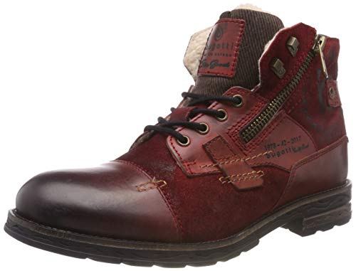 bugatti Herren 321612501214 Klassische Stiefel, Rot, 45 EU