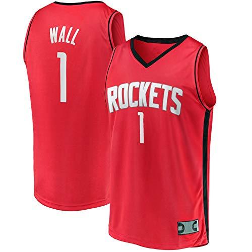 Camiseta de baloncesto sin mangas para hombre, cuello redondo, color rojo
