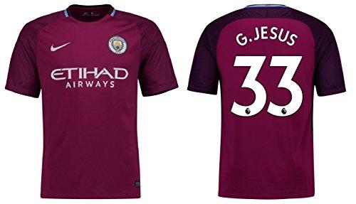 Trikot Herren Manchester City 2017-2018 Away - G.Jesus 33 (M)