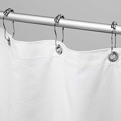 """Bean Products Cotton Shower Curtain (White), [70"""" x 74""""] 