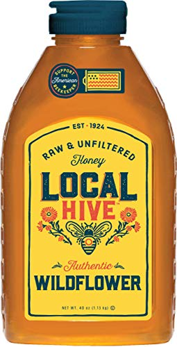 Local Hive Authentic Wildflower Raw & Unfiltered Honey, 40 Ounce