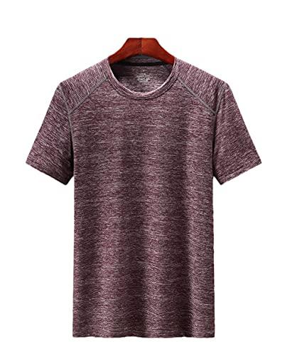 DamaiOpeningcs Bike T-Shirt,Camiseta de Cuello Redondo de Manga Corta de Hombre seco rápidamente Deportes al Aire Libre de Secado rápido-Jujube Rojo_6XL