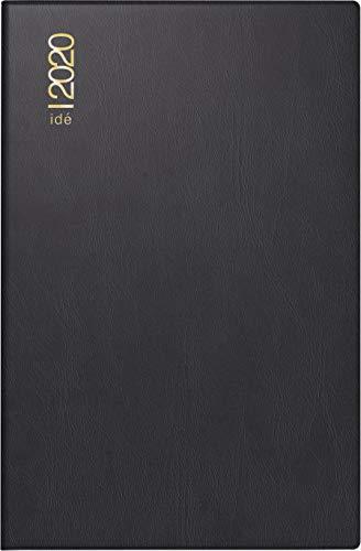rido/idé 701100290 Taschenkalender partner/Industrie I (2 Seiten = 1 Woche, 72 x 112 mm, Kunststoff-Einband, Kalendarium 2020) schwarz