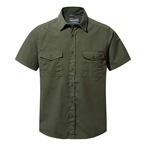 Craghoppers Herren Outdoor Reise Hemd Outdoor Reise Kiwi Kurzarm Hemd, Grün (Cedar), Gr. 52-54 (Herstellergröße: L)