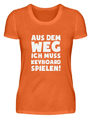 Keyboardspieler: Muss Keyboard Spielen! - Damenshirt -XXL-Mandarin Orange