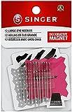 SINGER 01824 Large Eye Hand Needles On Magnet, 12-Count