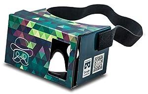 Google Cardboard POP! CARDBOARD di MR.CARDBOARD. Visore VR Occhiali di realtà virtuale con cinturino per la testa per Android e Apple iOS. Fatto in Germania.