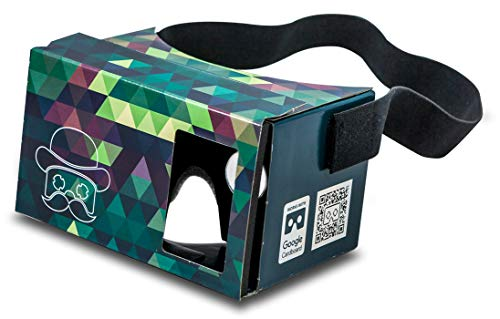 Google Cardboard POP! mit Kopfband und Polster Virtual Reality Headset VR Viewer für Android Apple iOS