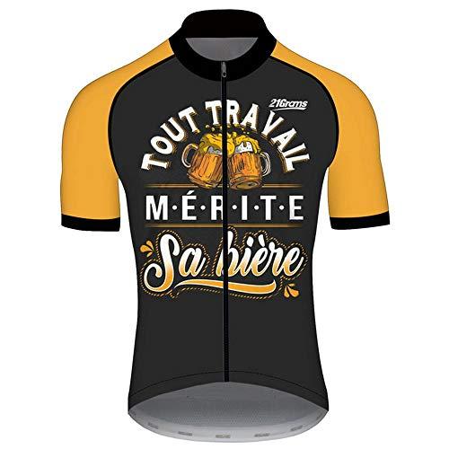 21Grams Jersey de Ciclismo para Hombres Manga Corta Maillot de Ciclismo Cerveza...