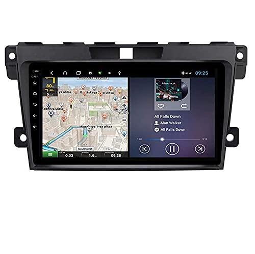 ZHFF Compatible Mazda CX-7 2008~2015 Sat Nav Double DIN Car Stereo Radio Navegación GPS Pantalla táctil de 9 Pulgadas Unidad Principal Reproductor Multimedia Receptor de Video WiFi Bluetooth