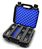 CASEMATIX Customizable 2 Way Radio Case Fits Walkie Talkies and CB Radios Compatible with Arcshell, Baofeng, Midland, Motorola Talkabout, Retevis and Uniden and More