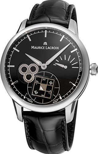 Maurice Lacroix obra maestra cuadrado rueda Classic Hombres de negro Dial potencia Reserva mecánico reloj fabricado en Suiza mp7158-ss001–301por Maurice Lacroix