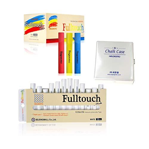 Hagoromo Fulltouch 3-Color Mix Chalk 72pcs + Hagoromo Fulltouch White Chalk 12pcs + Chalk Case