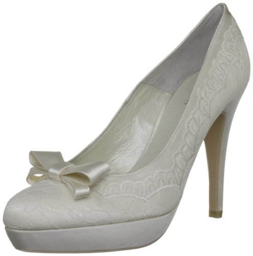 Menbur Wedding Damen Troya Pumps, Elfenbein (Ivory 04), 39 EU