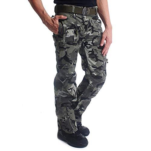 MAGCOMSEN Herren Hose Lang Regular Fit Hose Männer Camouflage Tactical Hose Große Seitentaschen BDU Hose Armee Hose Wanderhose Winter Hose für Jagd Fishing Camo 38