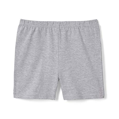 French Toast Girls' Little Stretch Kick Short, Heather Gray, 6