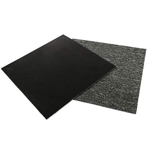 "MYOYAY Carpet Tiles with Anti-Slip PVC Back 20""x 20""Commercial Carpet Floor Tiles Non Slip Square Carpet Tiles for Residential & Commercial Flooring Use(28PCS,Dark Grey)"