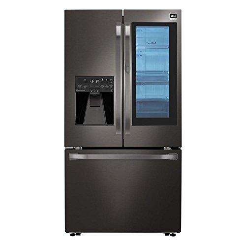 LG Studio LSFXC2496D 36' Black Stainless Counter Depth French Door Refrigerator