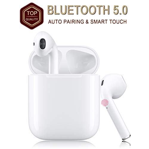 Wireless Earbuds Bluetooth 5.0 Headsets with【12Hrs Charging Case】IPX5...